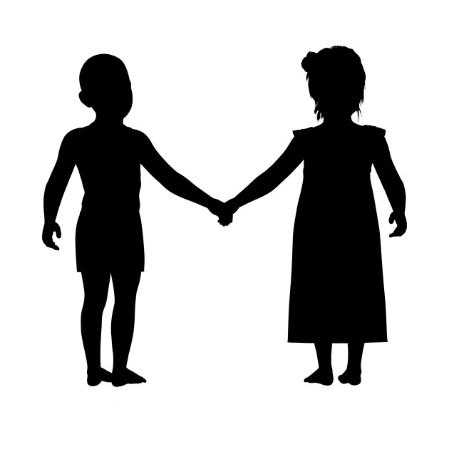 630x630 Limited Edition. Exclusive Little Boy And Girl Holding Hands