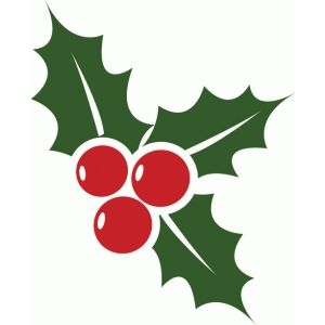 300x300 Holly Amp Berries Holly Berries, Silhouette Design And Silhouettes
