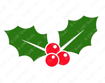 340x270 Holly Clipart Etsy Uk