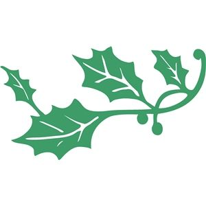 300x300 Holly Leaf Flourish Silhouette Design, Flourish And Silhouettes