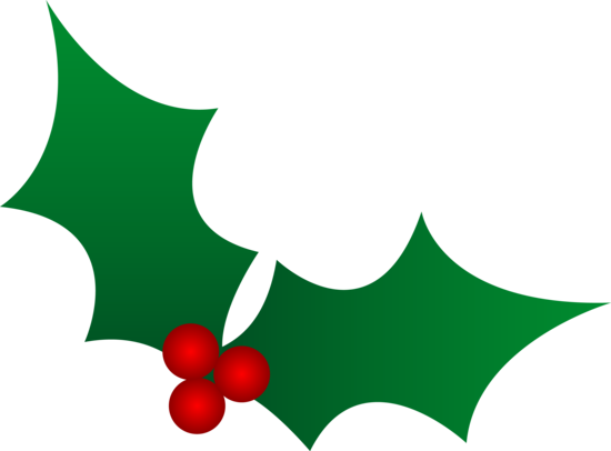 550x406 Christmas Holly Leaves Silhouettes, Stencils
