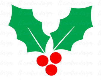 340x270 Merry Christmas Svg Holly Stars Hand Lettered Cut File