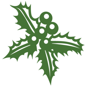 300x300 Christmas Holly Svg Scrapbook Cut File Cute Clipart Files