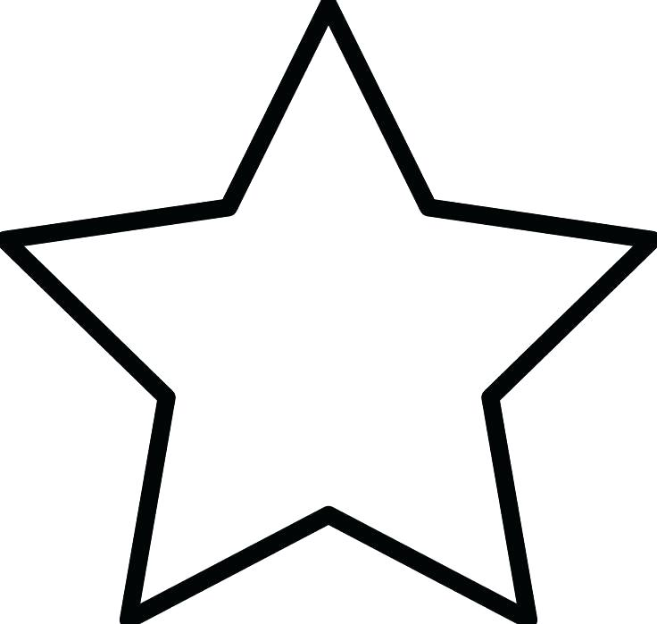 736x699 Hollywood Star Printable Template Kids Coloring Star Outline