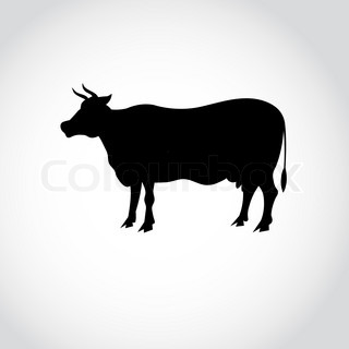 320x320 Cow Silhouette Stock Vector Colourbox
