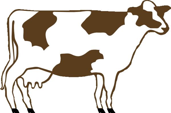 600x397 Holstein Dairy Cow Clip Art