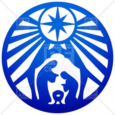 400x400 Holy Family Christian Silhouette Icon Royalty Free Vector Clip Art