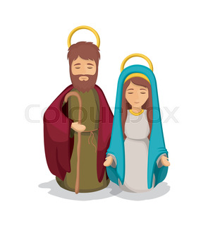 295x320 Mary Joseph And Baby Jesus Silhouette. Holy Family And Merry