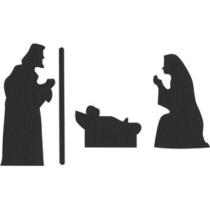 300x300 Nativity Holy Family Holy Family, Silhouette Design And Silhouettes