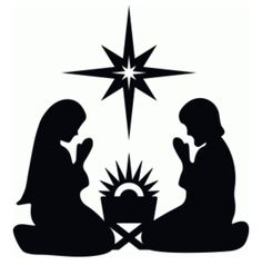 236x238 Nativity Scenes On Frosted Glass