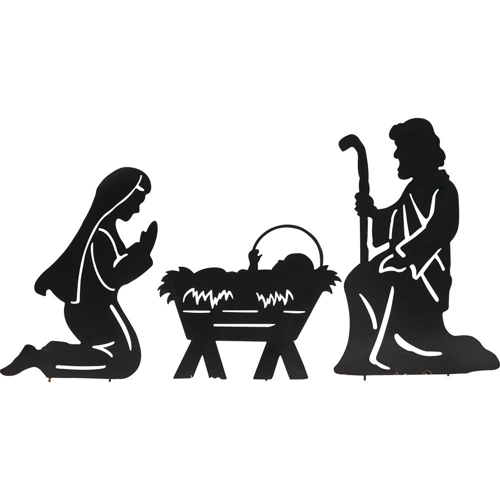1001x1001 Holy Family Nativity Shadow Garden Stakes, Outdoor