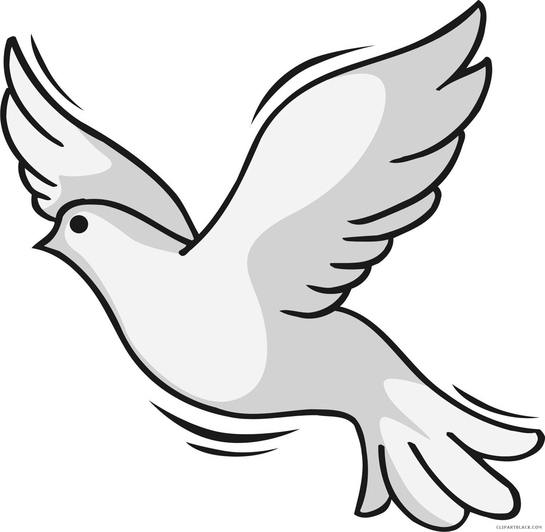 1498x1462 Holy Spirit Dove Animal Free Black White Clipart Images