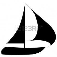 236x236 Sailboat Clipart Silhouette