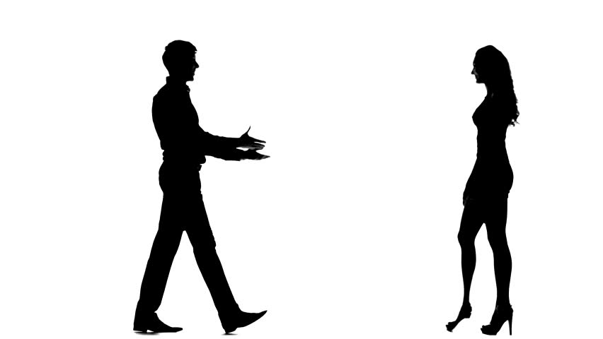 852x480 Silhouette Of Walking People And Homeless Man Begging On
