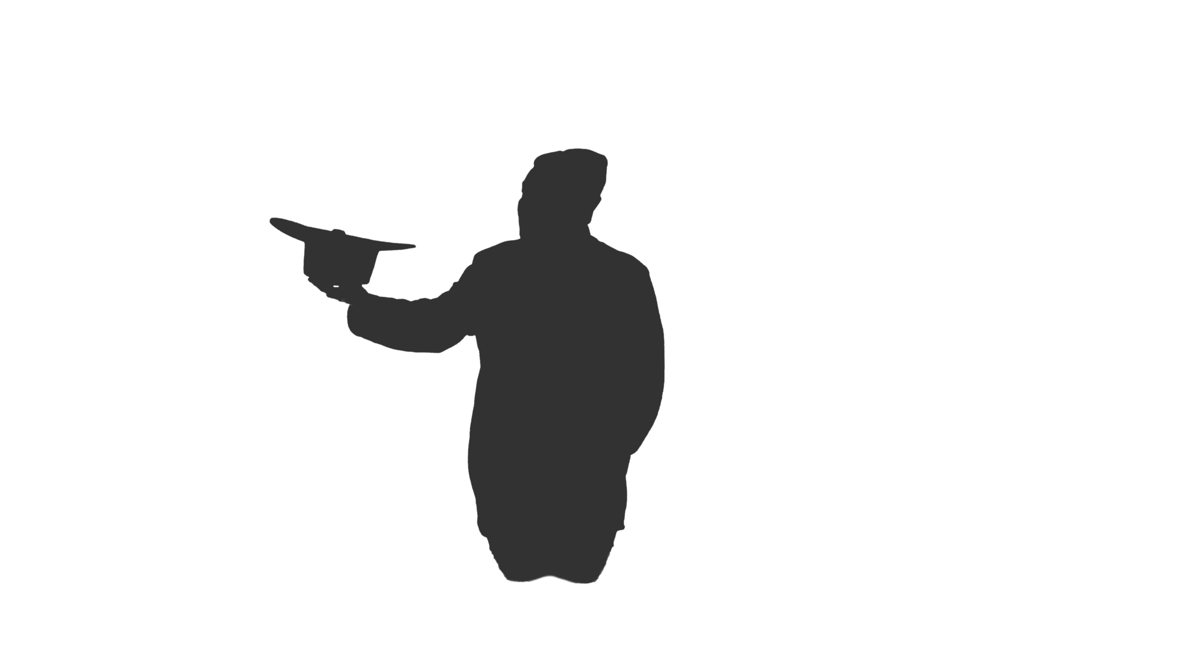 3840x2160 Video Silhouette Of A Homeless Man Sits In The Street And Begging