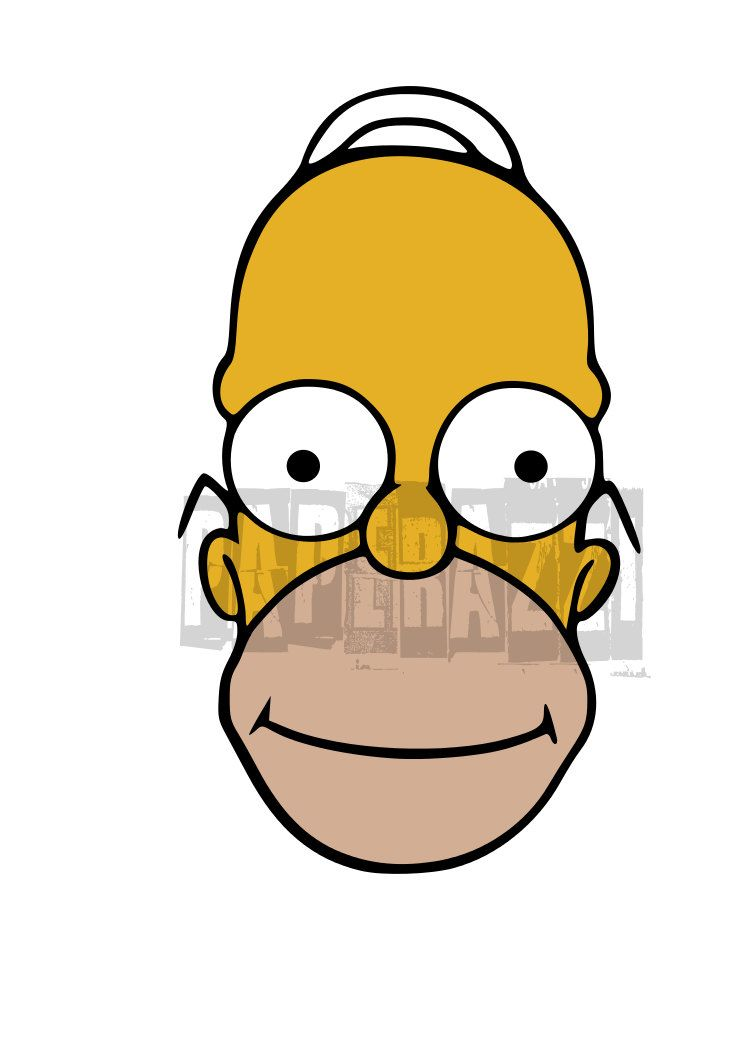 745x1053 Homer Simpson Inspired Svg Electronic Cutting Files For Cricut