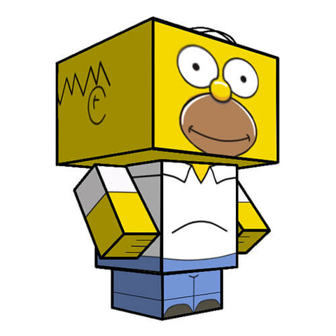 480x480 Homer Simpsons Paper Toy Free Printable Papercraft Templates