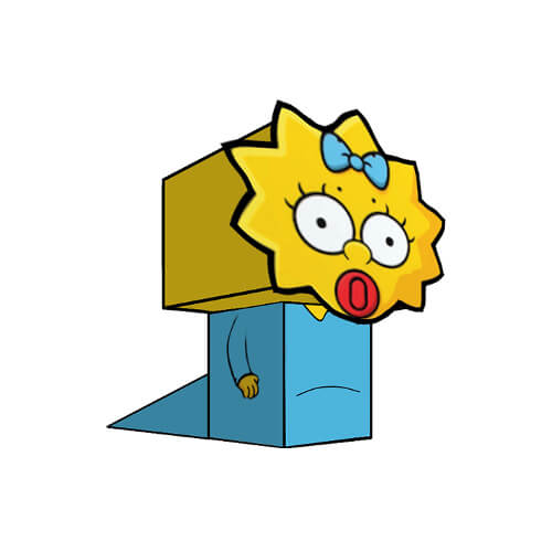 500x500 Bart Simpsons Paper Toy Free Printable Papercraft Templates