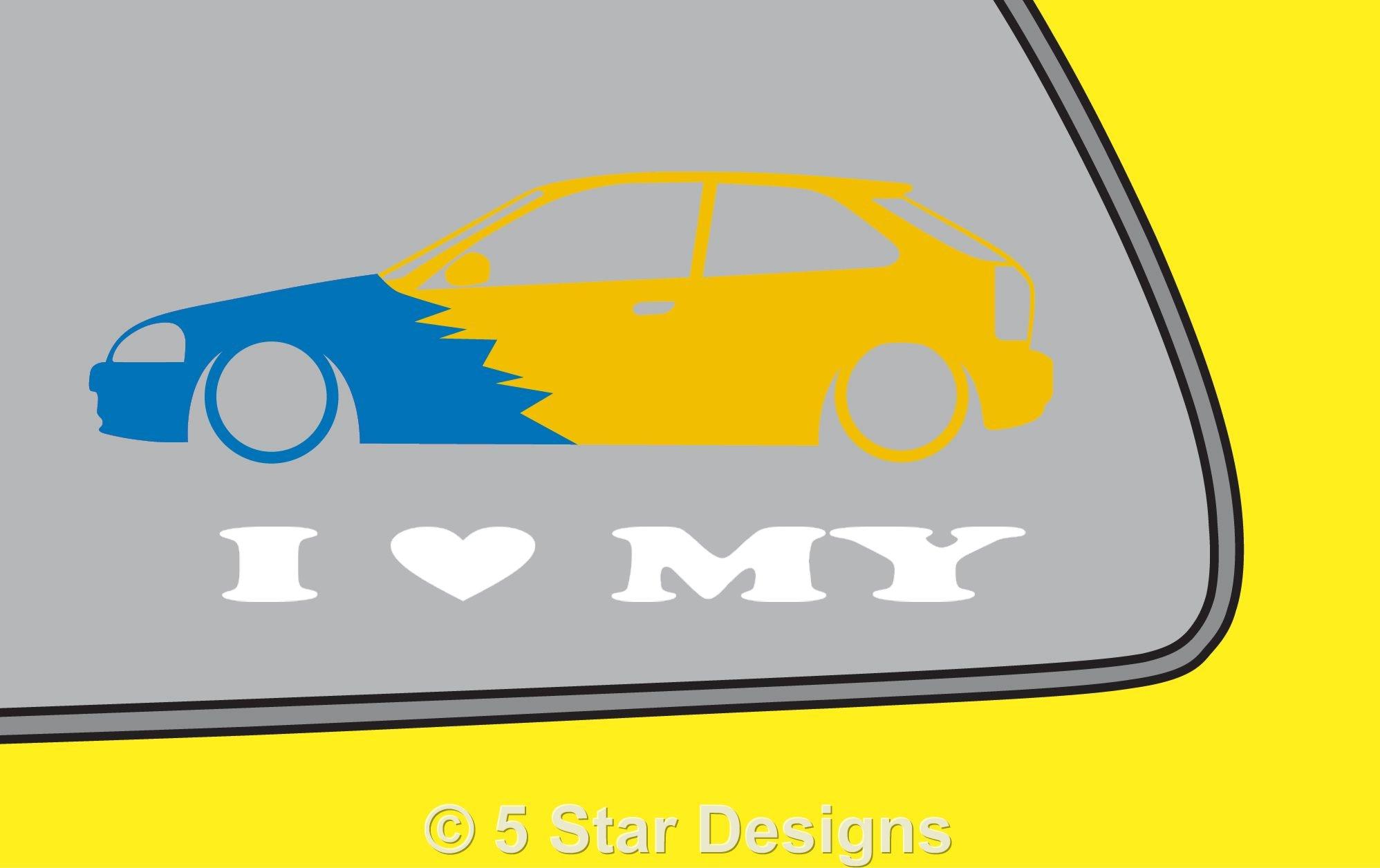 1996x1256 2x Love Low Honda Civic Ek Jdm Spoon Type R Silhouette Outline