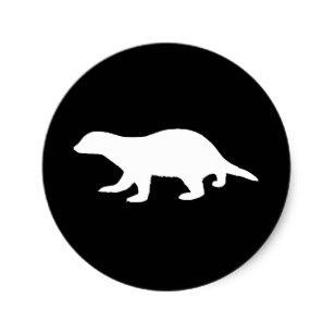 307x307 Honey Badger Silhouette Gifts On Zazzle Ca