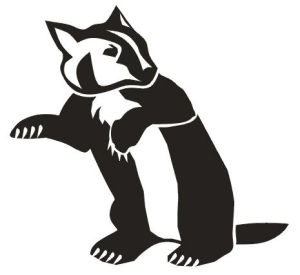300x275 Badger Clipart Silhouette