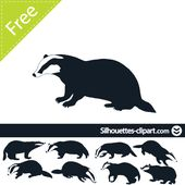 170x170 Badger Silhouette Silhouettes tribal Silhouettes