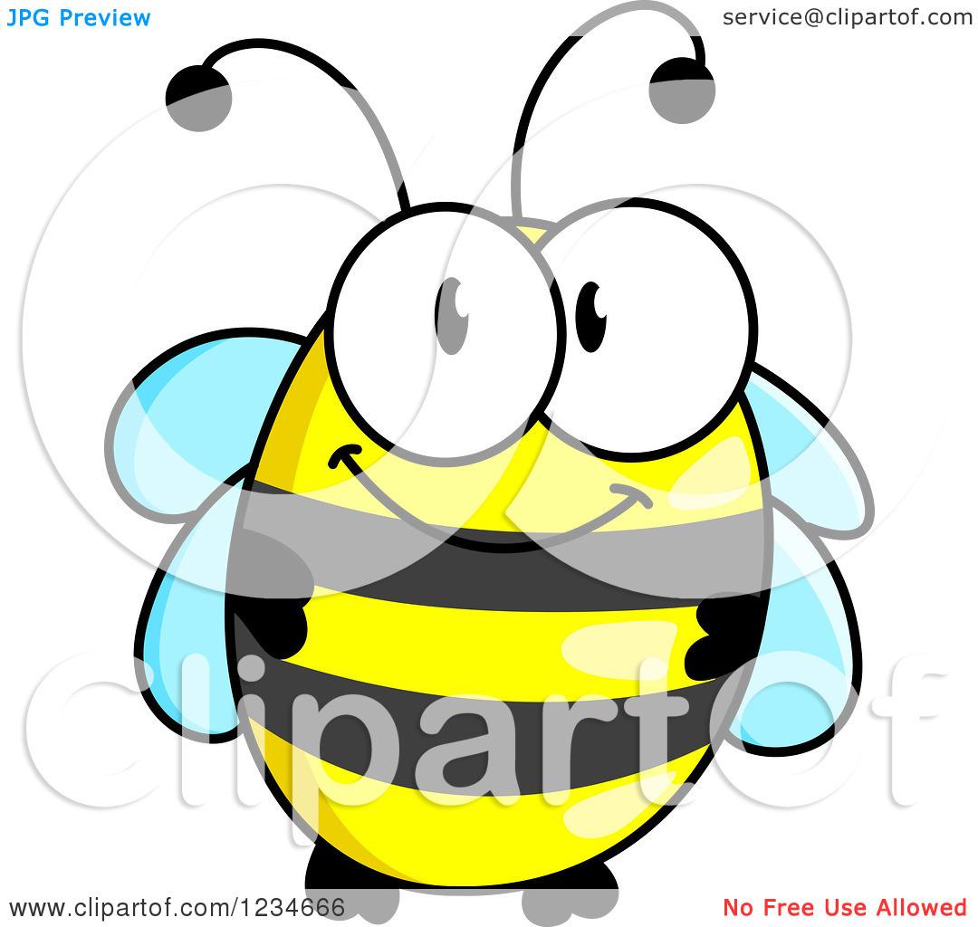 1080x1024 Cute Honey Bee Silhouette