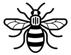 236x184 Graphic Illustration Of Silhouette Honey Bee. Isolated