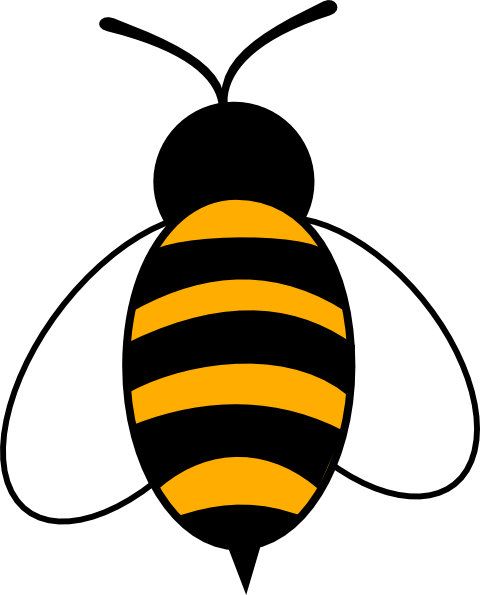480x595 Bee Silhouette