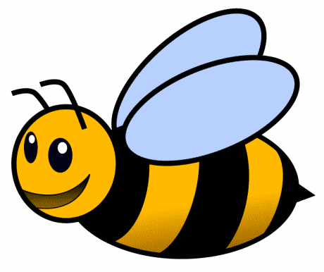 460x386 Bee Silhouette Cliparts