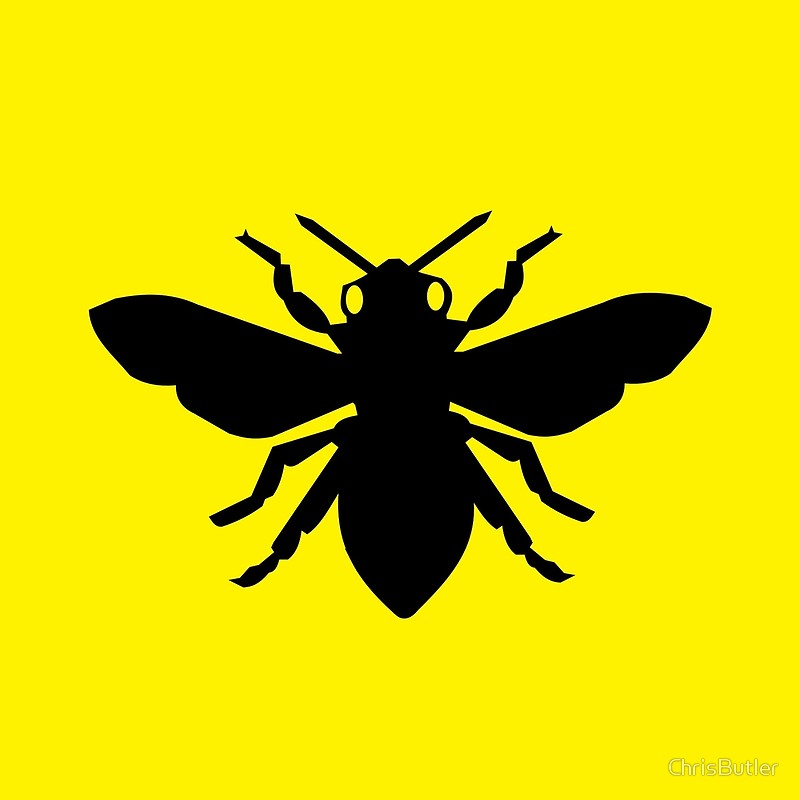 800x800 Bee Silhouette Throw Pillows By Chrisbutler Redbubble