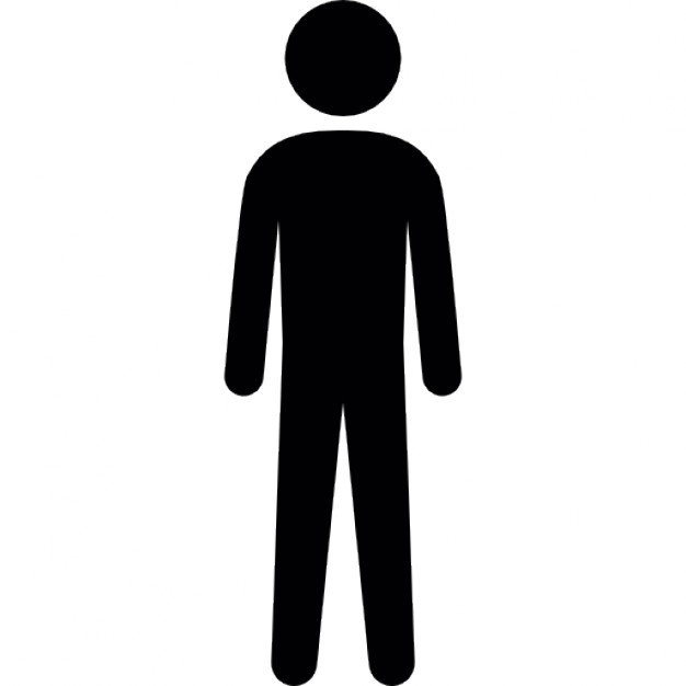 626x626 Tall Human Silhouette Icons Free Download