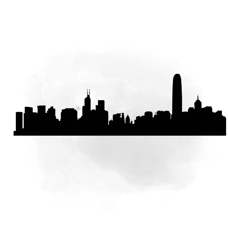 1405x1500 City Skyline Hong Kong Svg Clipart International City Digital