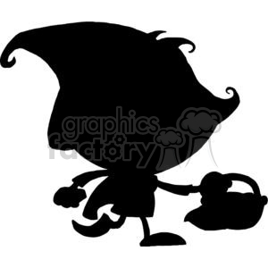 300x300 Royalty Free Silhouette Little Red Riding Hood 377969 Vector Clip