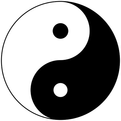 425x425 Clickforsign Ying Yang Symbol Silhouette Windows, Sides, Hood