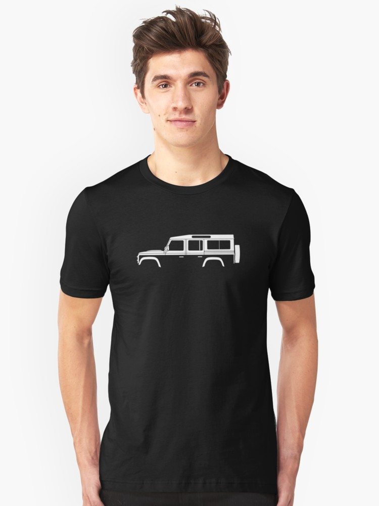 750x1000 Car Silhouette For Land Rover Defender 110, 4 Door Station Wagon