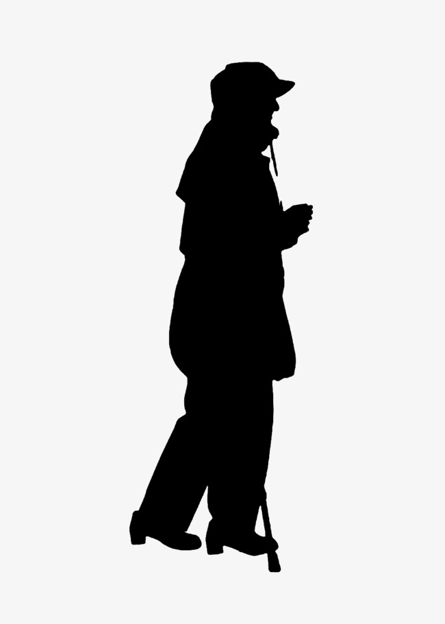 650x911 Hooded Man Silhouette, Old People, Sketch Png Image And Clipart