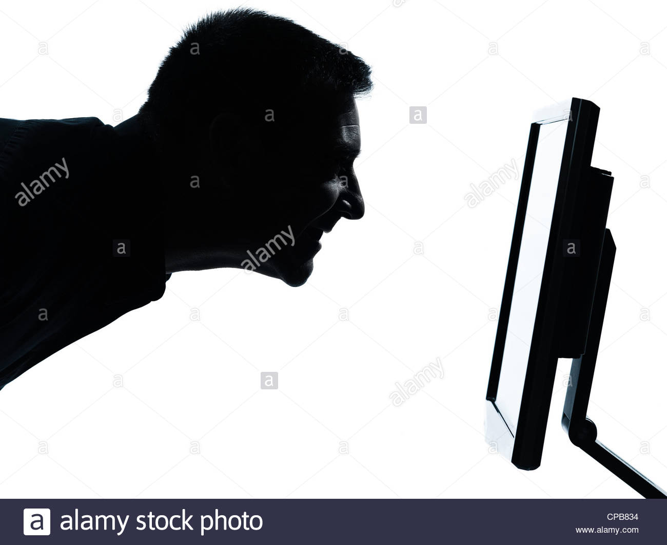 1300x1061 Silhouette Man Computer Screen Stock Photos Amp Silhouette Man