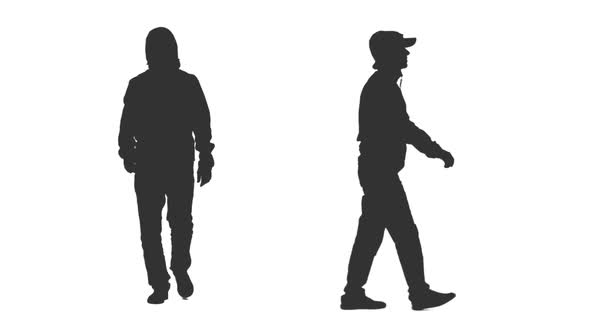 590x332 Silhouette Of Hooded Man Walks On Transparent Background By Mgpremier