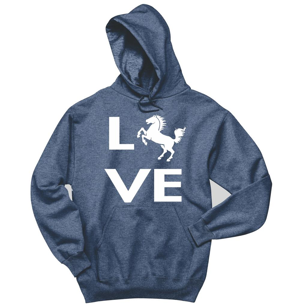 950x1024 Love Horse Silhouette Sweatshirt Horse Lover Graphic Tee Country