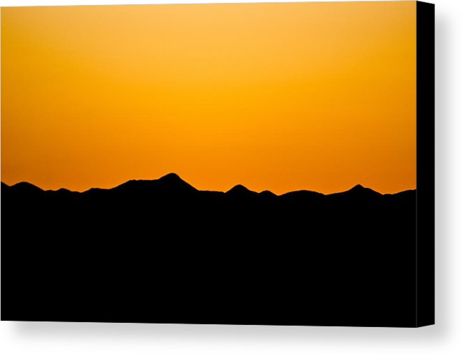 661x508 Sunset Silhouette Canvas Print Canvas Art By Bg Boyd
