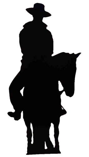 285x500 Cowboy On Horse Silhouette 188cms Cutout Partyrama.co.uk