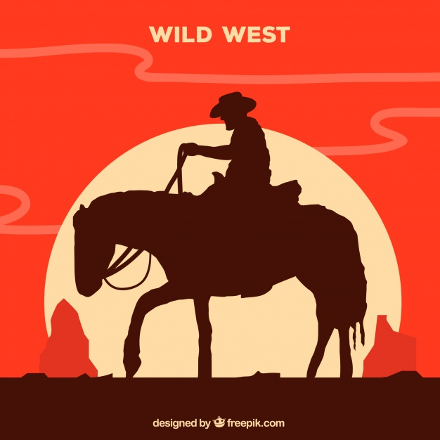 626x626 Silhouette Of Lone Cowboy Riding Vector Free Download