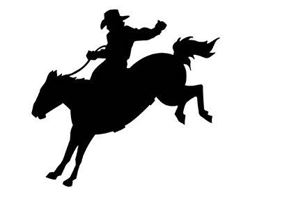 425x283 Cowboy On Horse Boys Wall Decalwestern Rodeo
