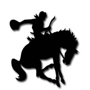 300x300 Clipart Picture Of A Cowboy Riding A Bucking Horse
