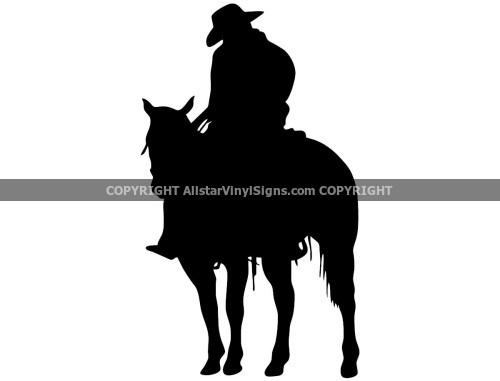 500x381 Cowboy Car Stickers