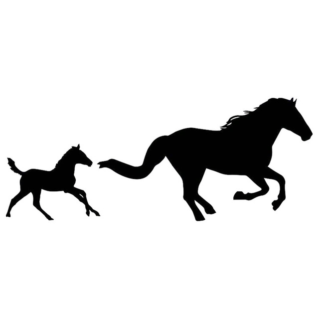 Horse And Foal Silhouette