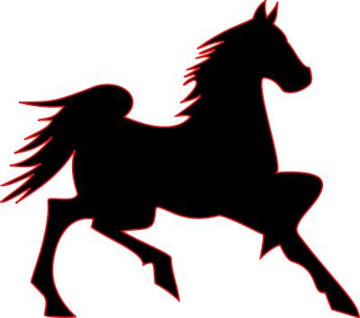 400x354 Free Horse Silhouette Clipart, 1 page of Public Domain Clip Art