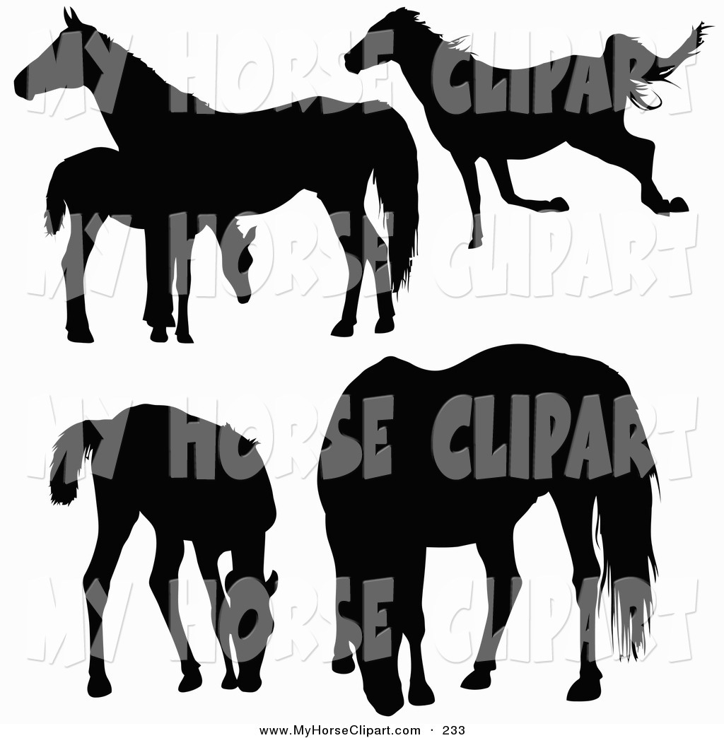 1024x1044 Clip Art Of Black Silhouetted Horses And Foals Running, Standing