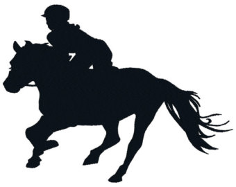 340x270 Horse Embroidery Design. Horse Silhouette. Machine Embroidery